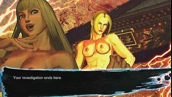 หนังโป๊เกมส์ดัง Street Fighter X Tekken เหล่านักสู้ตัวการ์ตูนแก้ผ้าตีกัน เอาหีตบหน้าอย่างโหด คราบน้ำหีกระจายเต็มจอ